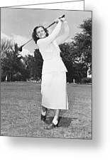 Babe Didrikson Golfing Greeting Card