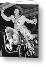 Babe Didrikson On Sidesaddle Greeting Card