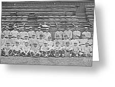Babe Ruth And New York Yankees 1922 Greeting Card