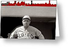 Babe Ruth As Member Of The Boston Red Sox National Photo Company Collection 1919-2013 Greeting Card
