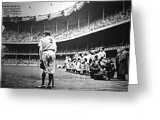 Babe Ruth Poster Greeting Card