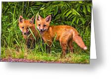 Babes In The Woods 2 - Paint Greeting Card