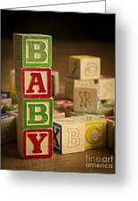 Baby Blocks Greeting Card