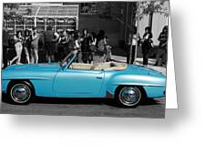 Baby Blue Benz Greeting Card