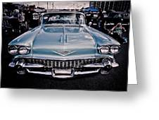 Baby Blue Cadillac Greeting Card by Merrick Imagery