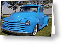 Baby Blue Chevy From 1950 Greeting Card