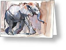 Baby Elephant, 2012 Mixed Media On Paper Greeting Card