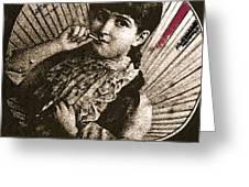 Baby Face Homage 1933 Sepia Variation 2 Virginia City Montana 1971 Greeting Card