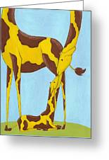 Baby Giraffe Nursery Art Greeting Card