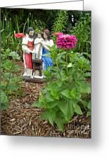Baby Jesus In Garden Greeting Card