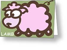 Baby Lamb Nursery Art Greeting Card by Nursery Art