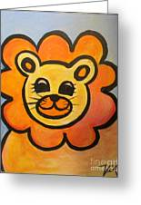 Baby Lion Greeting Card