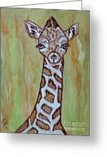 Baby Longneck Giraffe Greeting Card