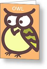 Baby Owl Nursery Wall Art Greeting Card