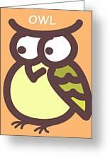 Baby Owl Nursery Wall Art Greeting Card by Nursery Art