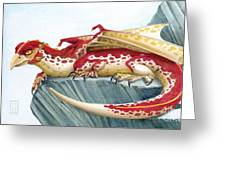 Baby Scarlet Spotted Dragon Greeting Card