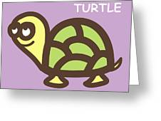 Baby Turtle Nursery Wall Art Greeting Card