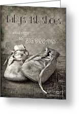 Baby's First Shoes Greeting Card