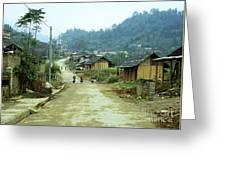 Bac Ha Town Greeting Card