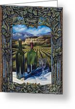 Bacchus Vineyard Greeting Card