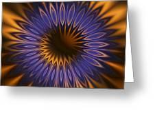 Bachelor Button Mandala Greeting Card