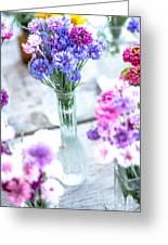 Bachelor Flowers Greeting Card