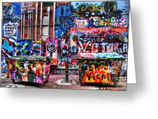 Back Alley Canvas Greeting Card