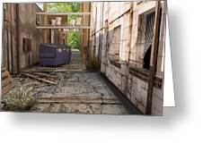 Back Alley Texas Greeting Card