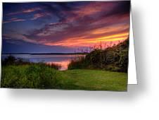 Back Bay Dusk Greeting Card