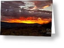 Back Country Sunset Greeting Card