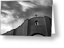 Back Entrance Arch San Xavier Del Bac Mission 1979 Greeting Card