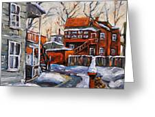 Back Lanes 02 Montreal By Prankearts Greeting Card