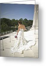 Back Of Bride At Baha'i Temple Greeting Card