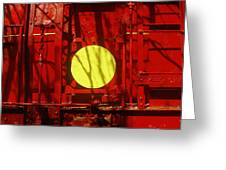 Back Of Caboose Greeting Card