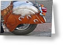 Back Of Indian Customized Motorcycle Greeting Card