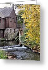 Back Of The Plimoth Grist Mill  Greeting Card