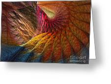Back On Earth Abstract Art Print Greeting Card