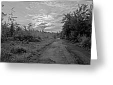 Back Road At Sunset Pocono Mountains Pennsylvania Greeting Card