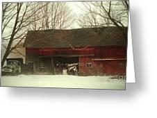 Back Road Barn Greeting Card