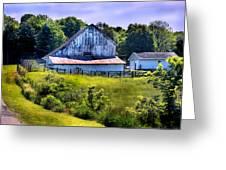 Back Roads Country Barn Greeting Card