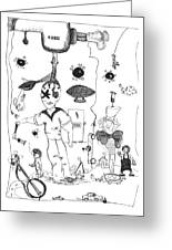 Back Rooms Of My Mind Door 10313 Greeting Card
