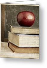 Back To School Apple For Teacher Greeting Card