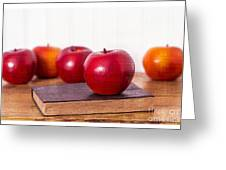 Back To School Apples Greeting Card by Edward Fielding