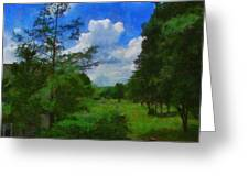 Back Yard View Greeting Card