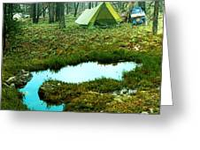 Backcountry Camp Greeting Card by Ric Soulen