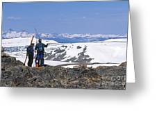 Backcountry Skiers Greeting Card