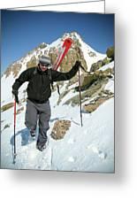 Backcountry Skiing, Citadel Peak, Co Greeting Card