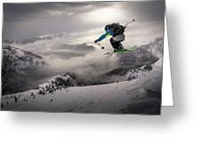 Backcountry Skiing Greeting Card
