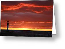 Background Sky Beyond The Pier Greeting Card