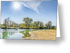 Backlighting River Landscape Greeting Card